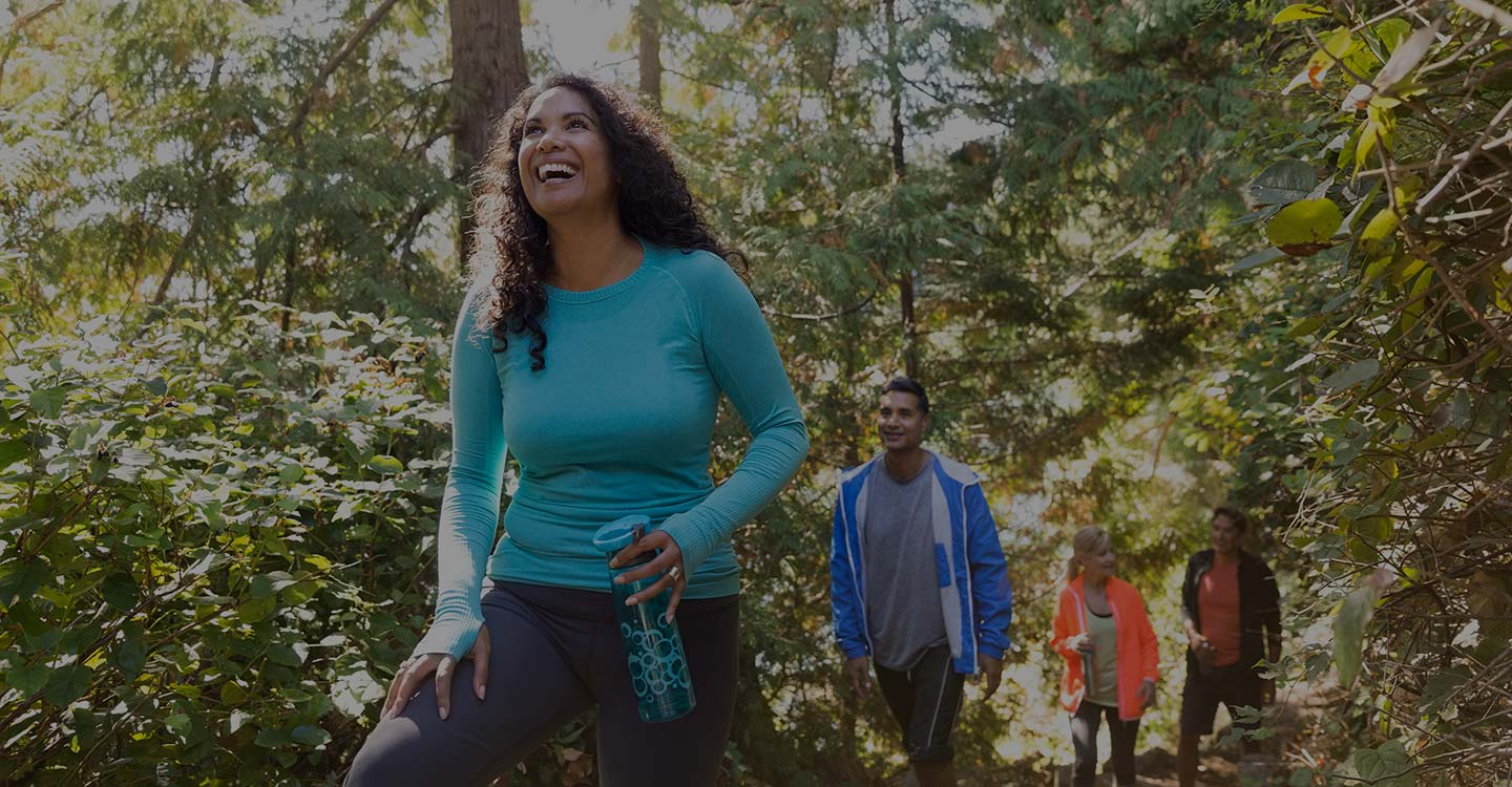 AdventHealth Diabetes Institute patients hiking in the woods