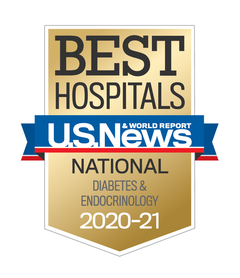AdventHealth has been designated a U.S. News & World Report Best Hospital in diabetes care and endocrinology for 2020-2021.